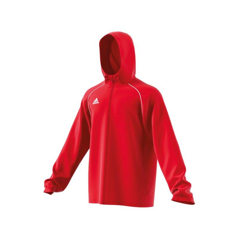adidas Core 18 Rain Jacket Jacke Rot Weiss - rot