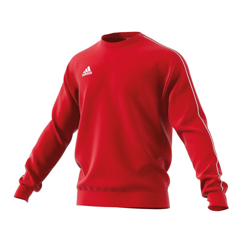 adidas Core 18 Sweat Top Rot Weiss - rot