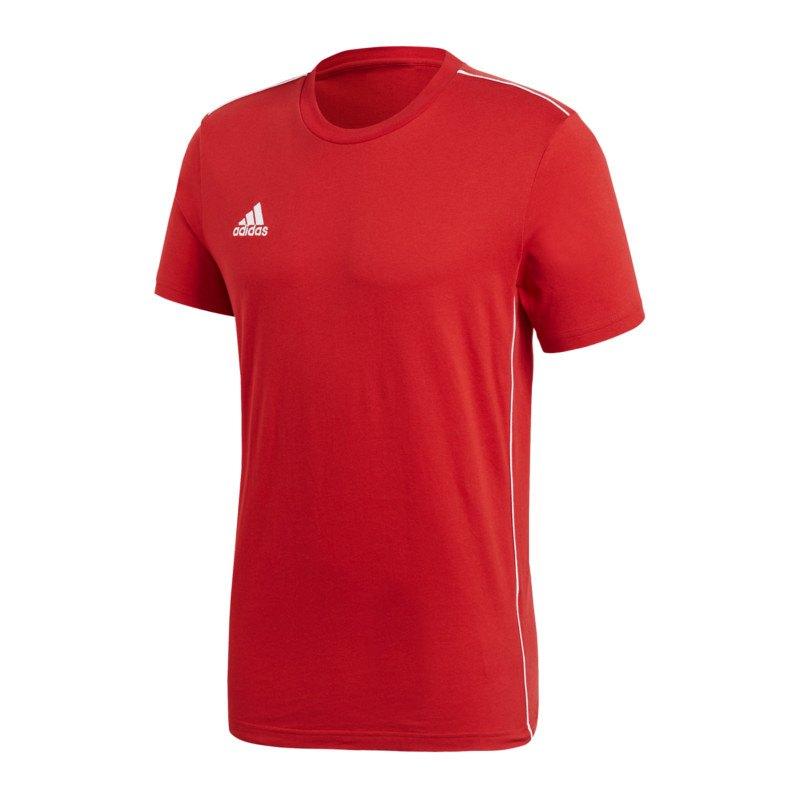adidas Core 18 Tee T-Shirt Rot Weiss - rot