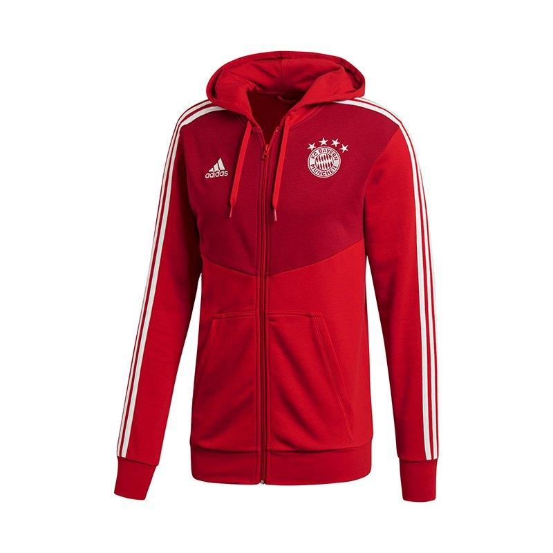 adidas FC Bayern München Kapuzenjacke Rot - rot