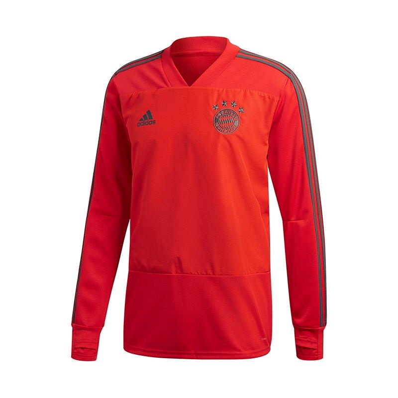 adidas FC Bayern München Training Sweatshirt Rot - rot