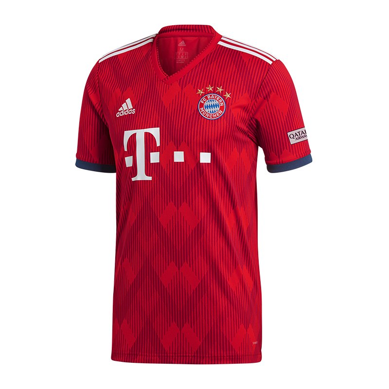 adidas fc bayern m nchen trikot home 2018 2019 fanbekleidung verein mannschaft. Black Bedroom Furniture Sets. Home Design Ideas