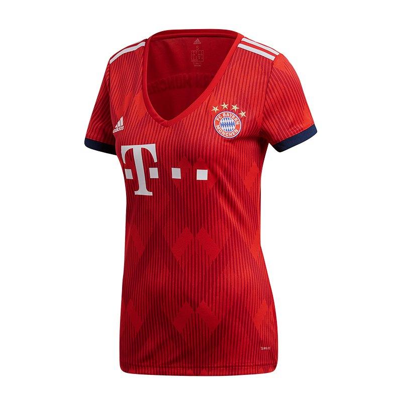 adidas FC Bayern München Trikot Home Damen 18/19 - rot