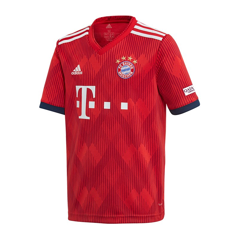 adidas FC Bayern München Trikot Home Kids 18/19 - rot