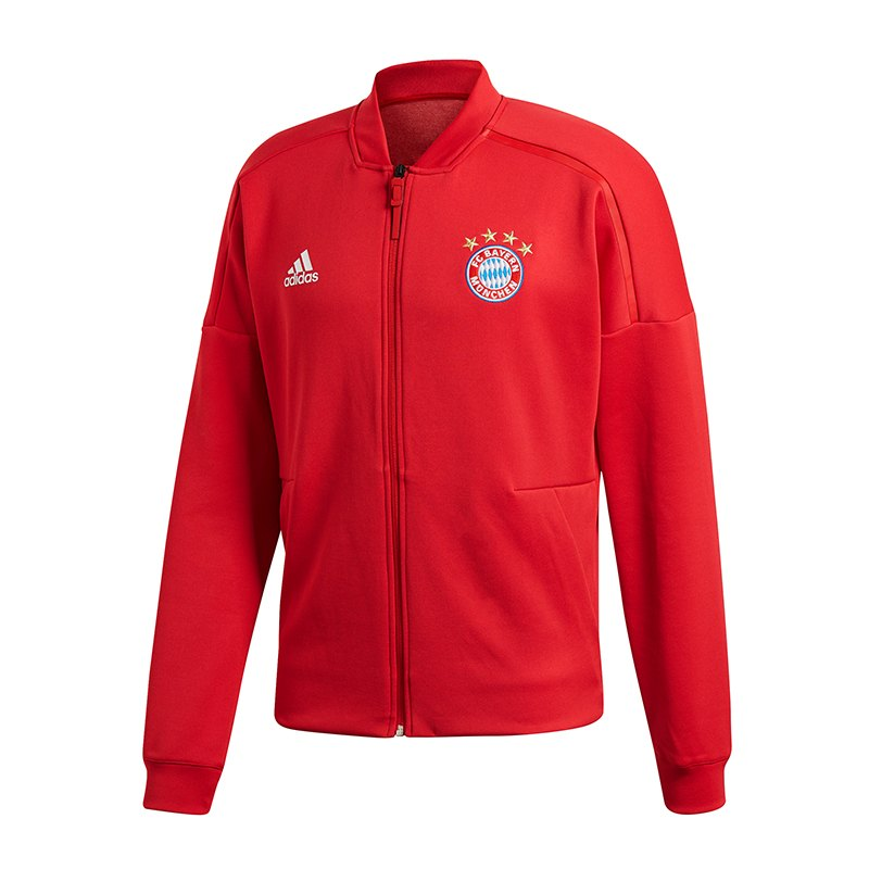 adidas FC Bayern München Z.N.E. Anthem Jacket Rot - rot