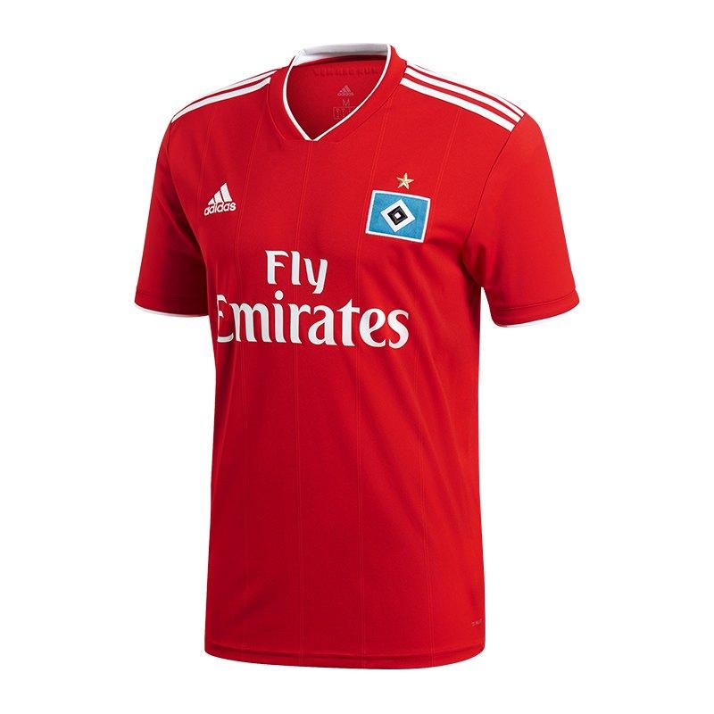 adidas Hamburger SV Trikot Away 2018/2019 - rot