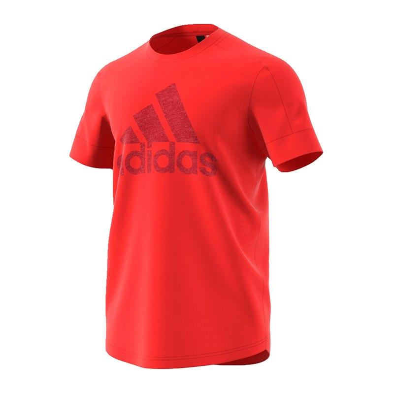 adidas ID Big Logo Tee T-Shirt Rot - rot