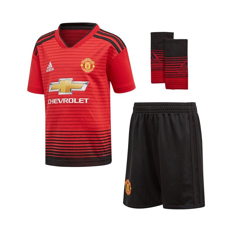 adidas Manchester United Minikit Home 2018/2019 Rot - rot