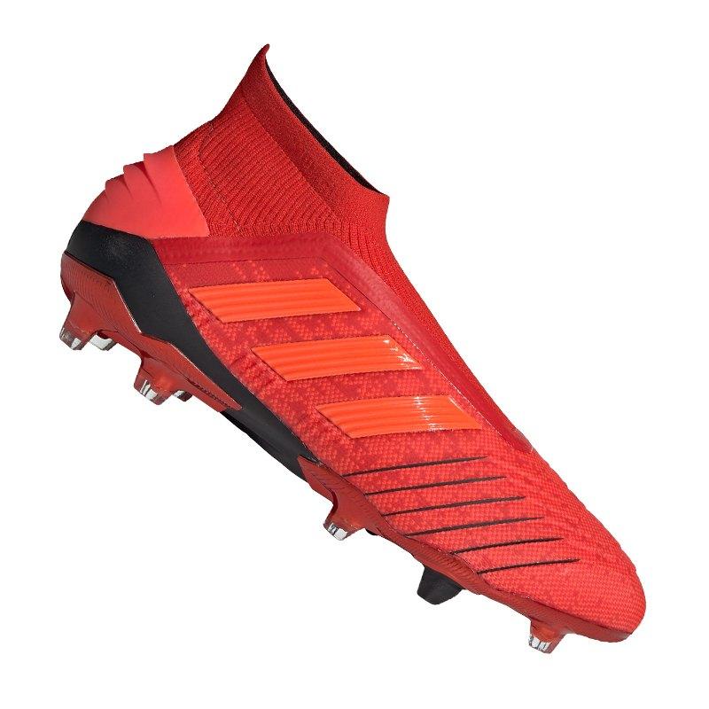 adidas Predator 19+ FG Rot Schwarz - rot