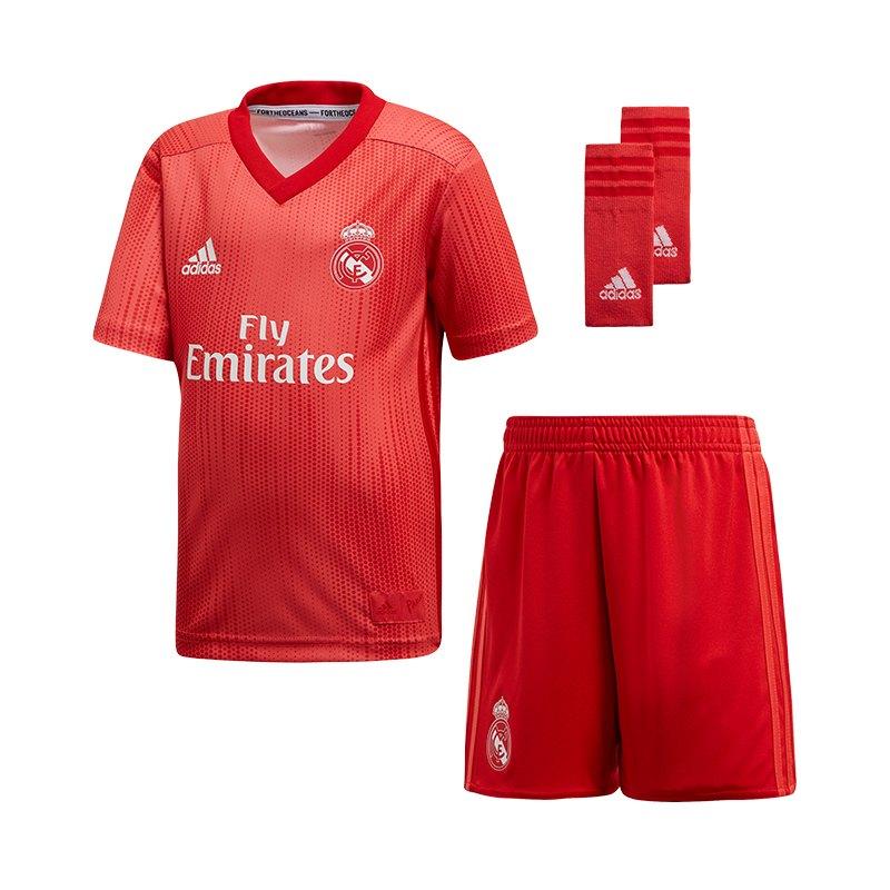 adidas Real Madrid Minikit UCL 2018/2019 Rot - rot