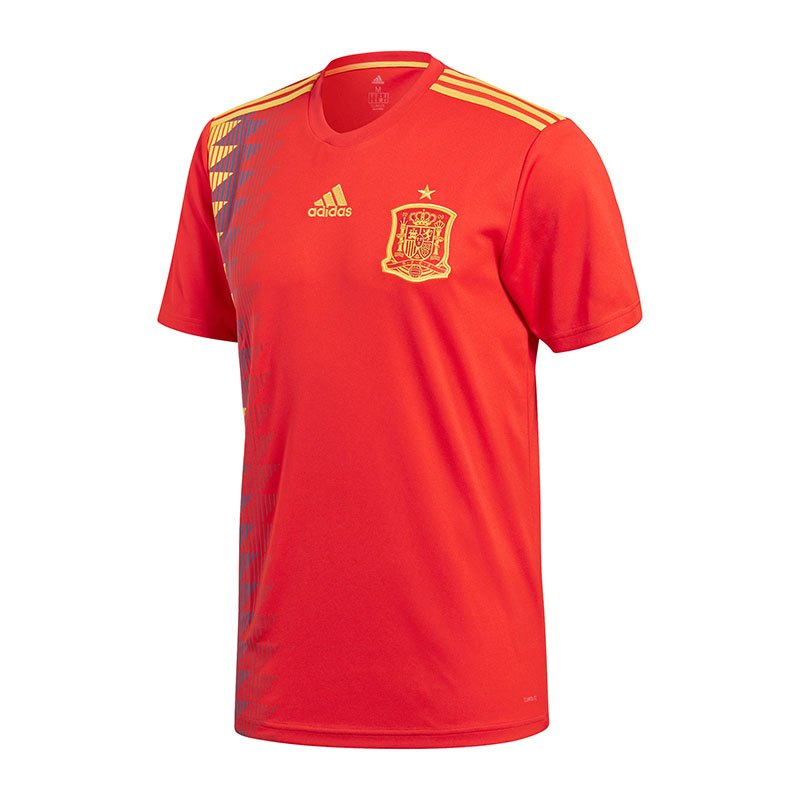 adidas spanien trikot home wm 2018 rot weltmeisterschaft. Black Bedroom Furniture Sets. Home Design Ideas
