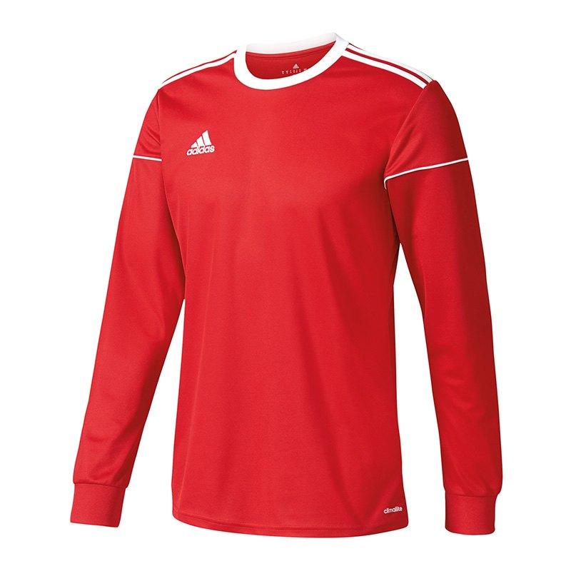adidas Squadra 17 Trikot langarm Rot Weiss - rot