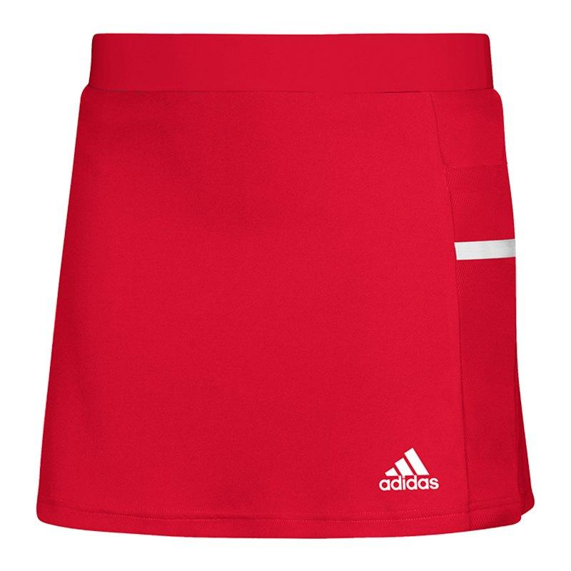 adidas Team 19 Skirt Rock Damen Rot Weiss - rot