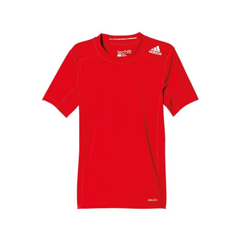 adidas Tech Fit Base Tee T-Shirt Kids Rot - rot
