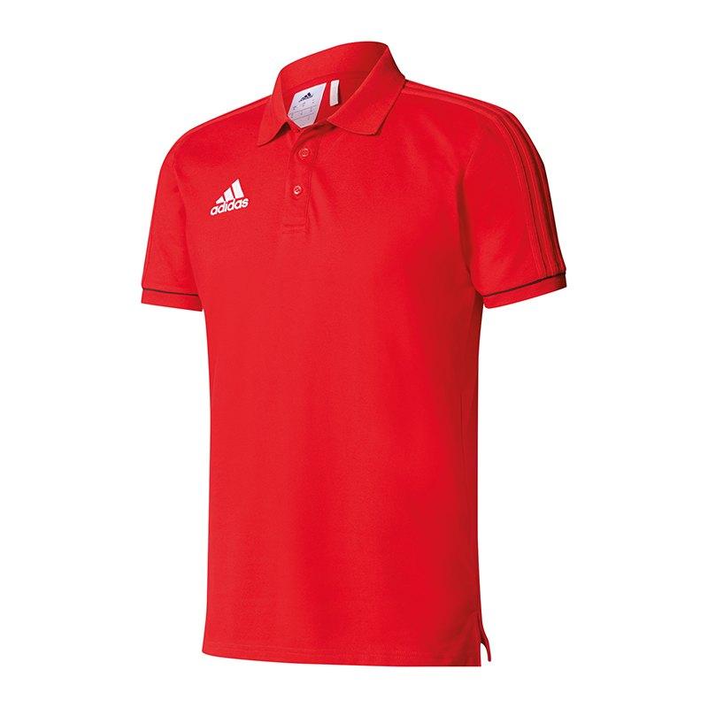 adidas Tiro 17 Poloshirt Rot Schwarz - rot