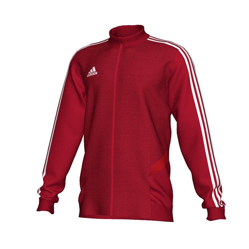 adidas Tiro 19 Trainingsjacke Rot Weiss - rot