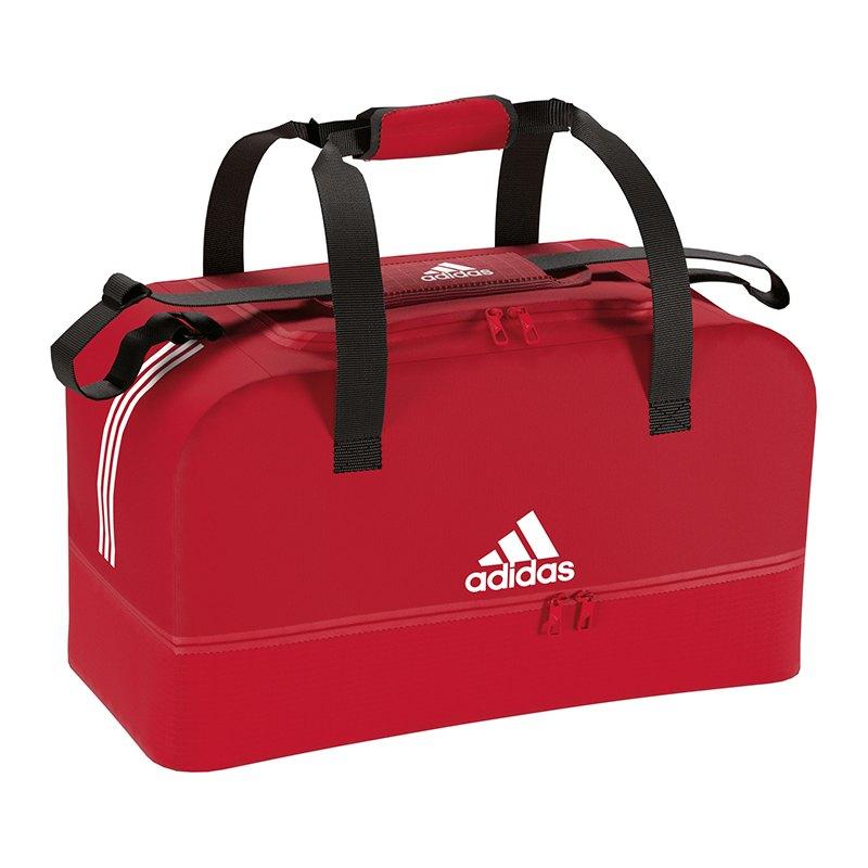 adidas Tiro Duffel Bag Tasche Gr. L Rot Weiss - rot