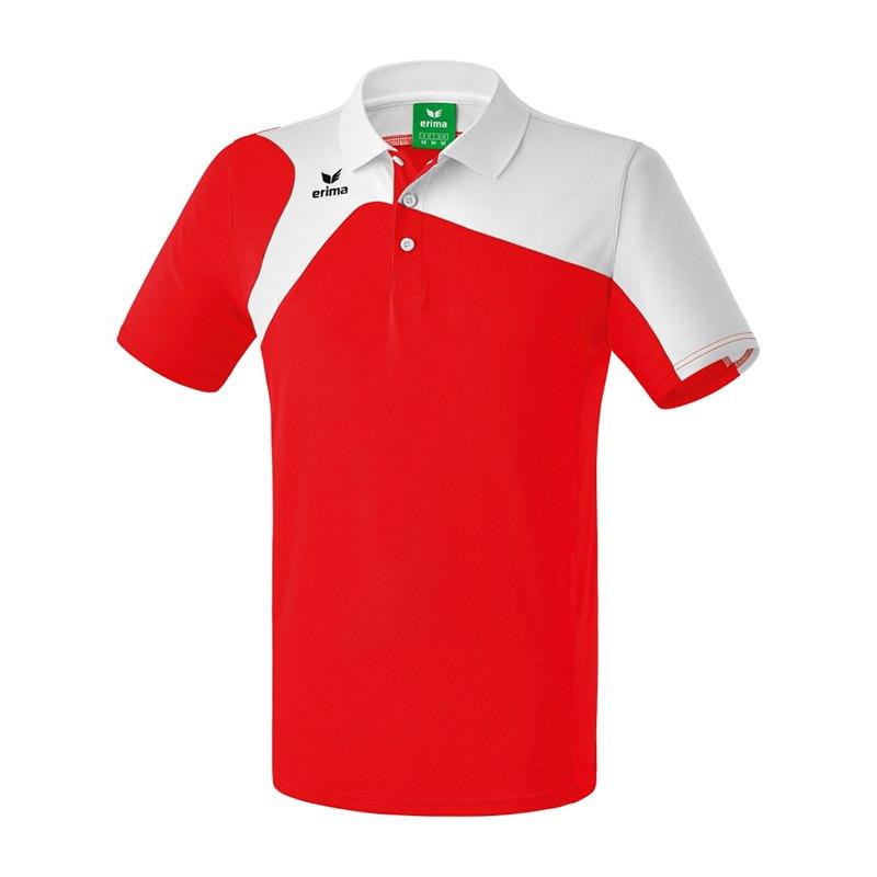 Erima Club 1900 2.0 Poloshirt Rot Weiss - rot