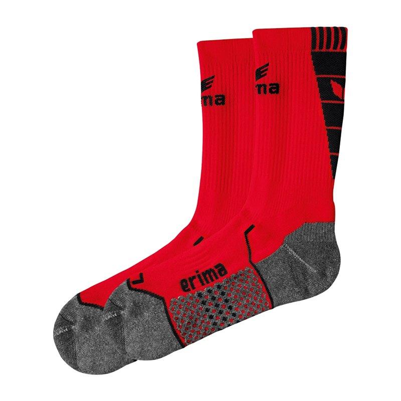 Erima Short Socks Trainingssocken Rot Schwarz - rot