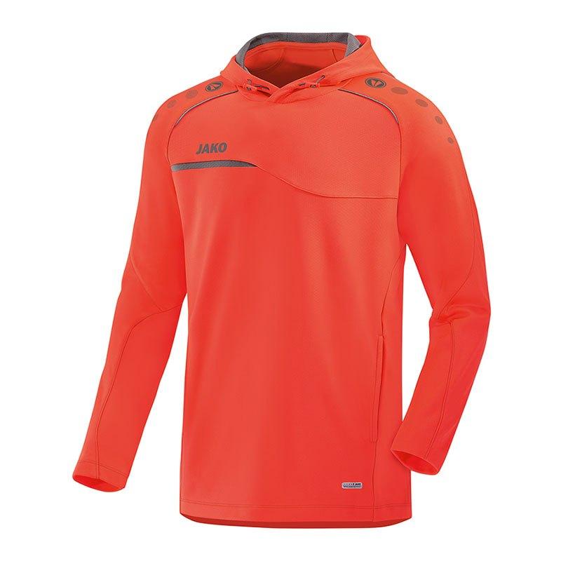 Jako Prestige Hoody Kapuzensweatshirt Rot Grau F40 - rot