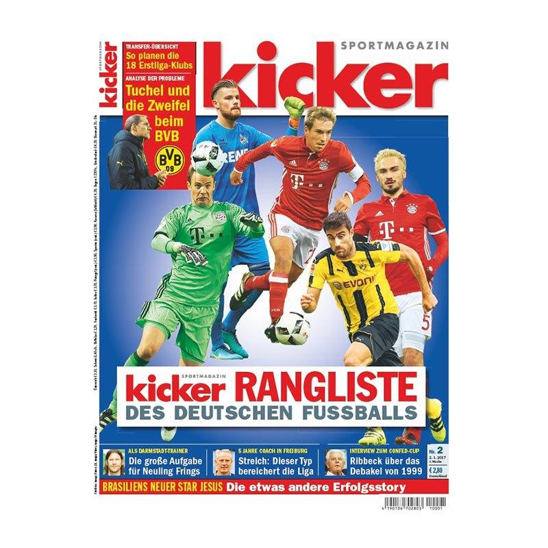 kicker Ausgabe 002/2017 vom 02.01.2017 - rot