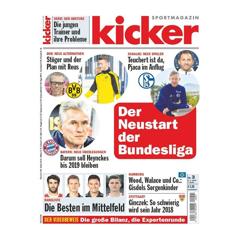 kicker Ausgabe 003/2018 vom 04.01.2018 - rot