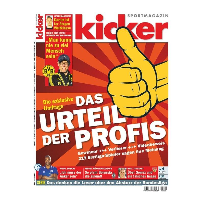 kicker Ausgabe 004/2018 vom 08.01.2018 - rot