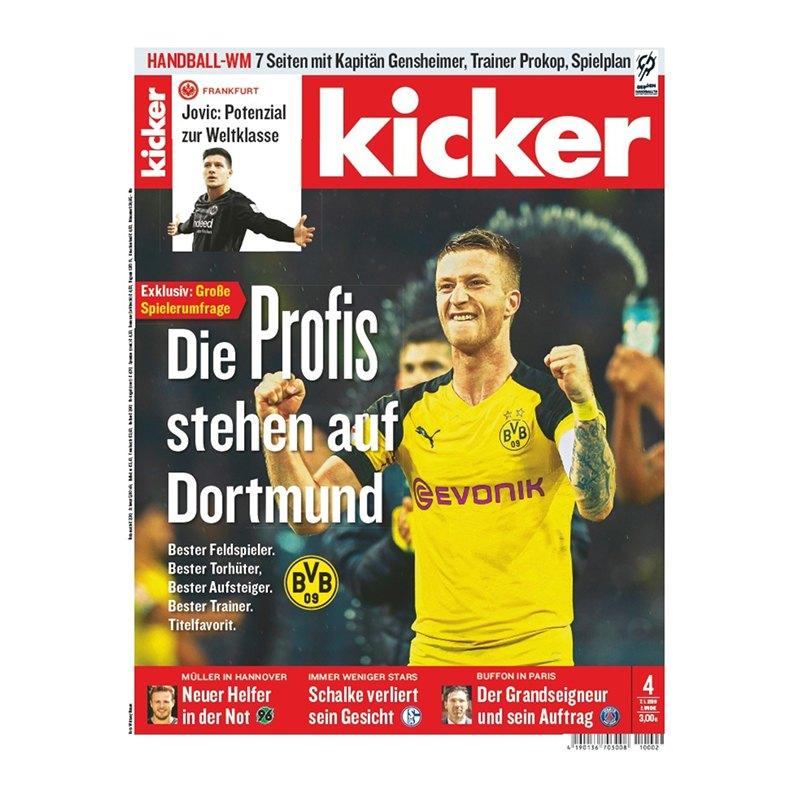 kicker Ausgabe 004/2019 vom 07.01.2019 - rot