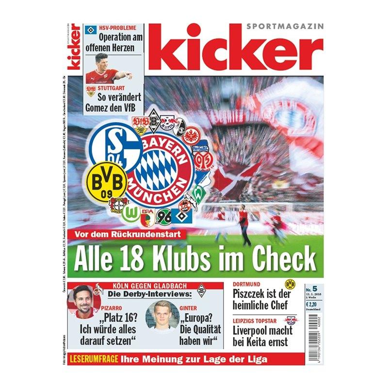 kicker Ausgabe 005/2018 vom 11.01.2018 - rot