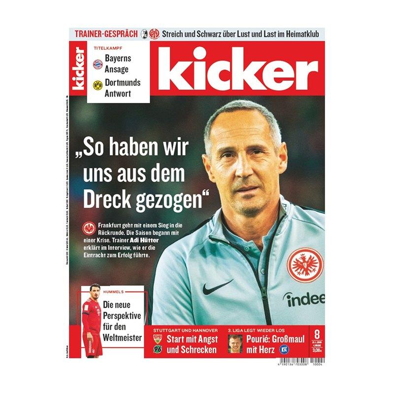 kicker Ausgabe 008/2019 vom 21.01.2019 - rot