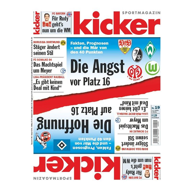 kicker Ausgabe 016/2018 vom 19.02.2018 - rot
