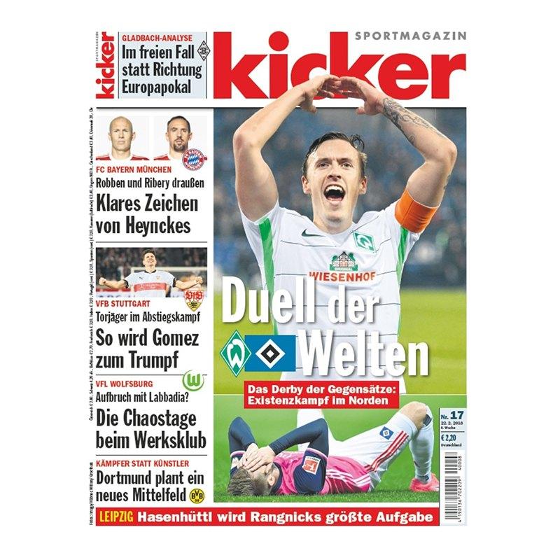 kicker Ausgabe 017/2018 vom 22.02.2018 - rot