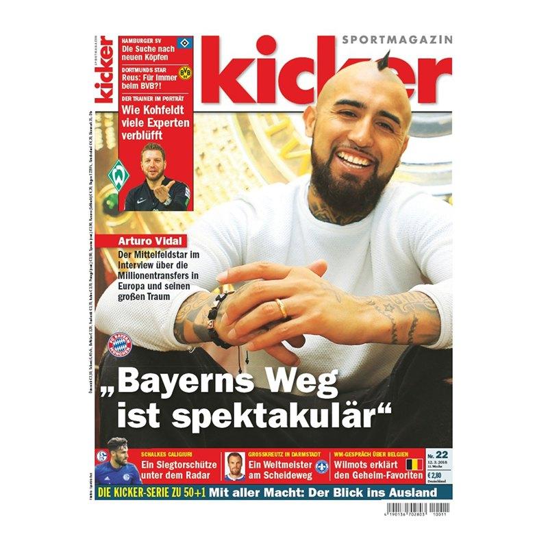 kicker Ausgabe 022/2018 vom 12.03.2018 - rot