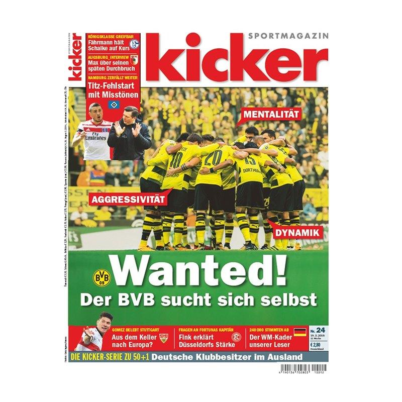 kicker Ausgabe 024/2018 vom 19.03.2018 - rot