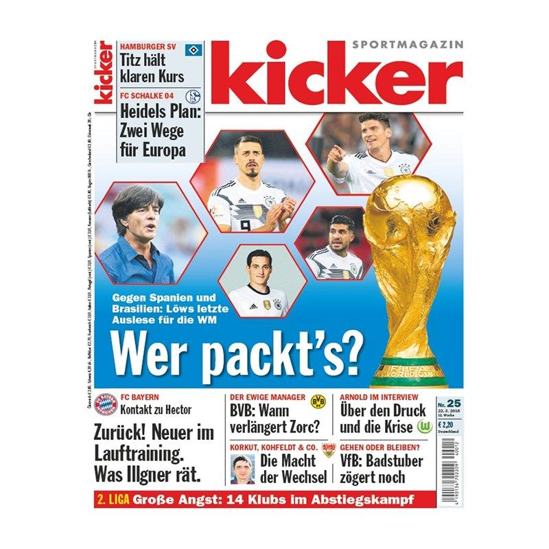 kicker Ausgabe 025/2018 vom 22.03.2018 - rot