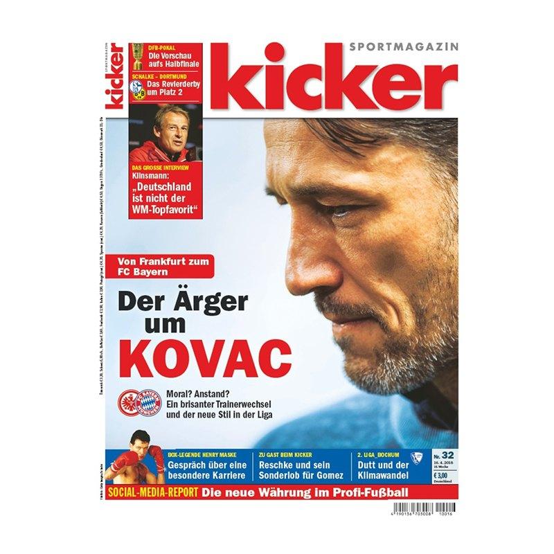 kicker Ausgabe 032/2018 vom 16.04.2018 - rot