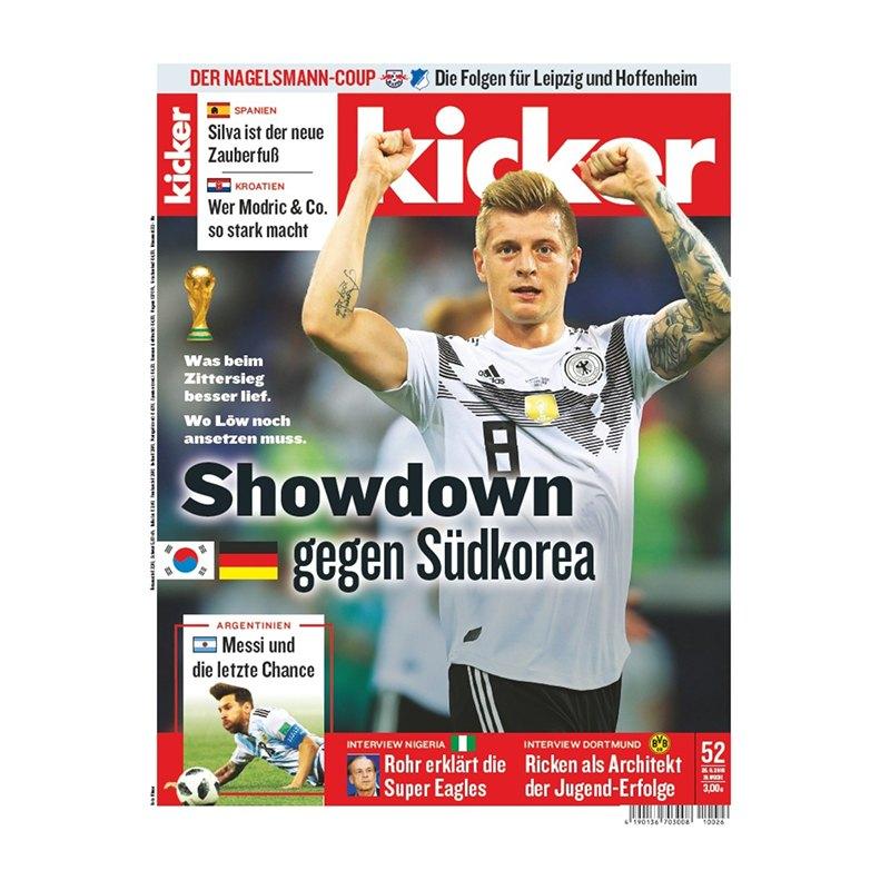 kicker Ausgabe 052/2018 vom 25.06.2018 - rot