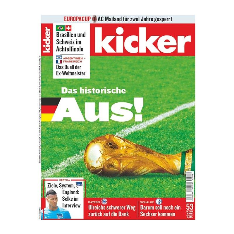 kicker Ausgabe 053/2018 vom 28.06.2018 - rot