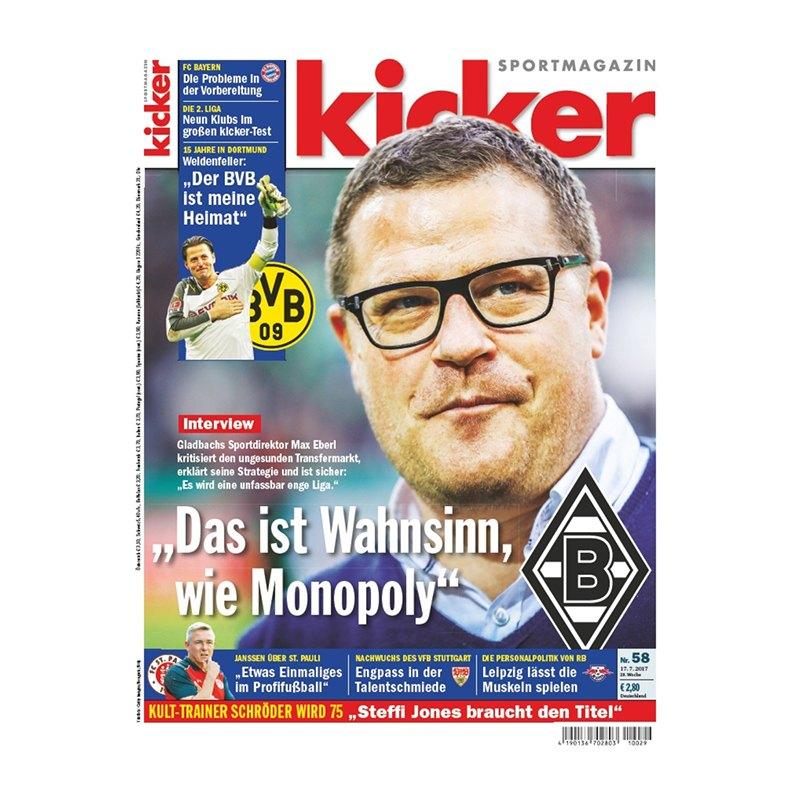 kicker Ausgabe 058/2017 vom 17.07.2017 - rot