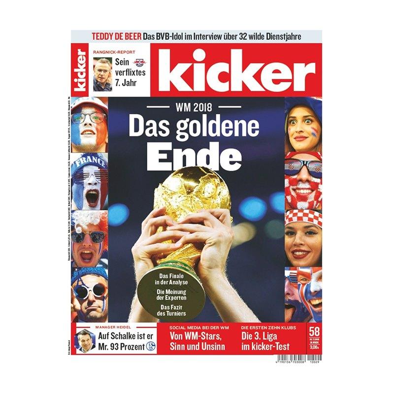 kicker Ausgabe 058/2018 vom 16.07.2018 - rot