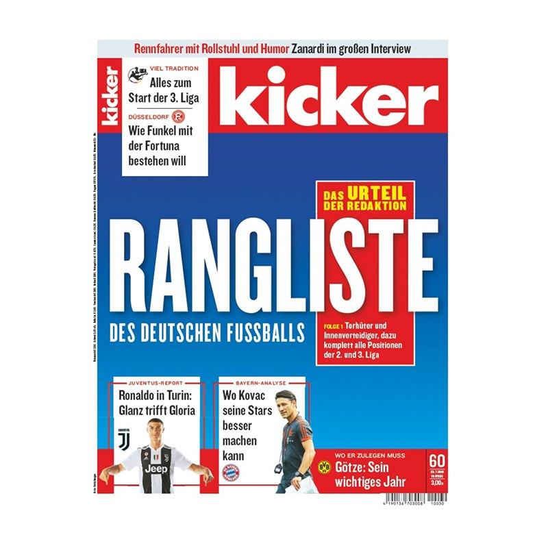 kicker Ausgabe 060/2018 vom 23.07.2018 - rot
