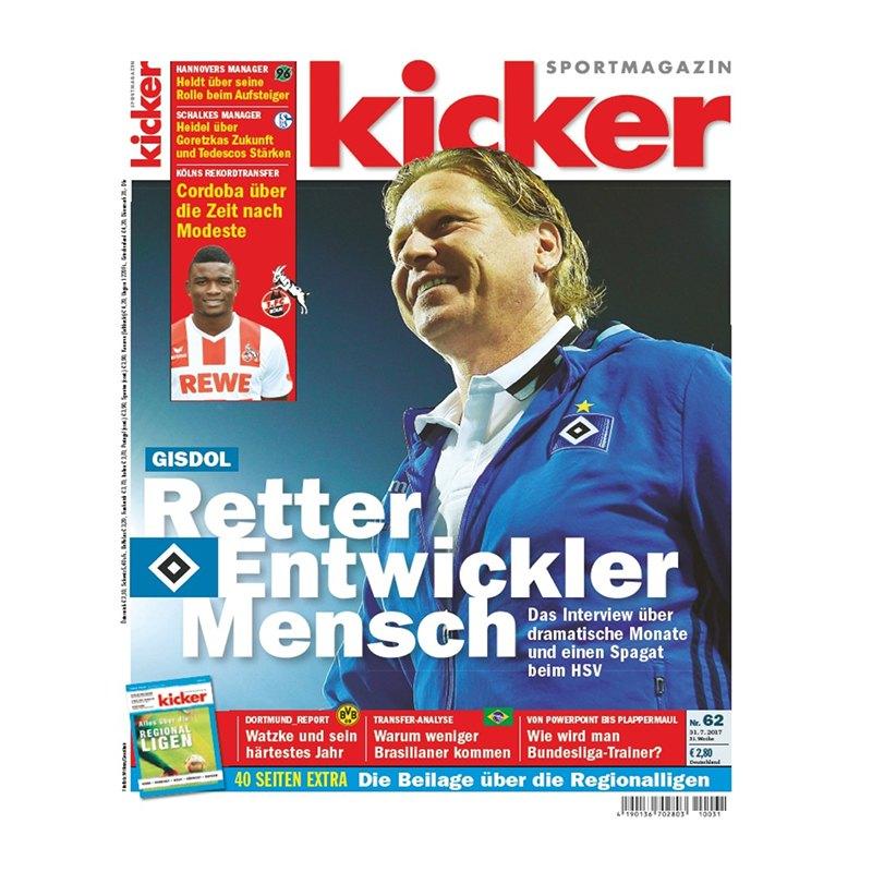 kicker Ausgabe 062/2017 vom 31.07.2017 - rot