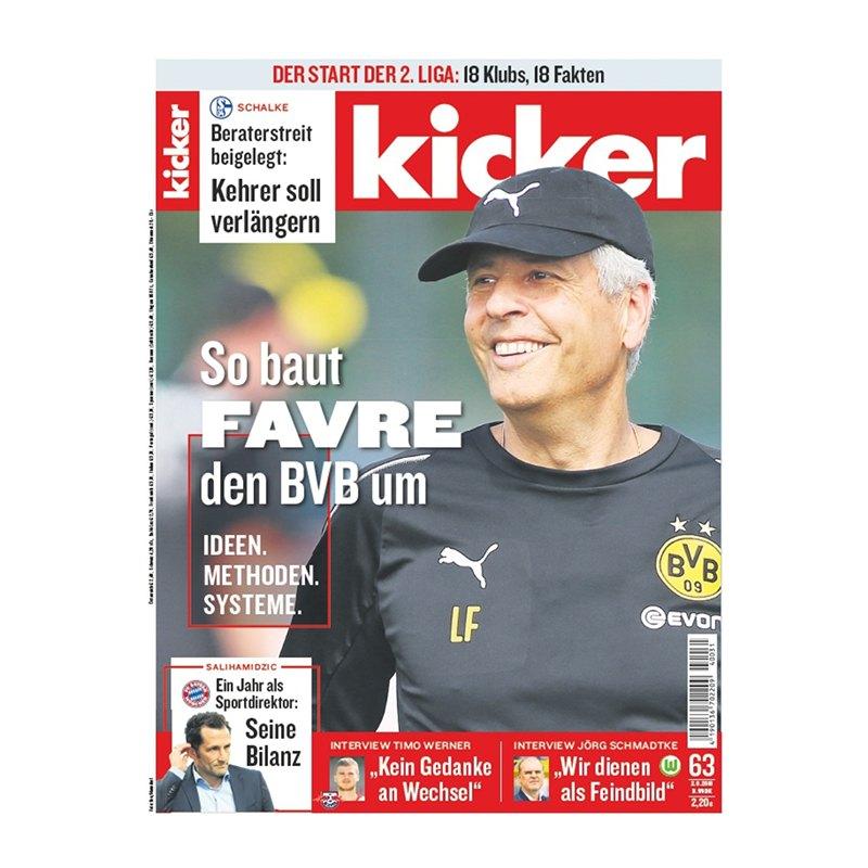 kicker Ausgabe 063/2018 vom 02.08.2018 - rot