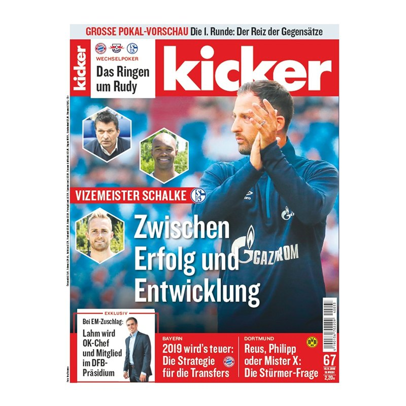 kicker Ausgabe 067/2018 vom 16.08.2018 - rot