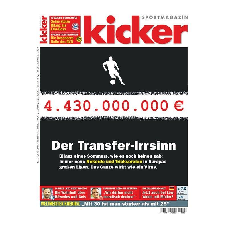 kicker Ausgabe 072/2017 vom 04.09.2017 - rot