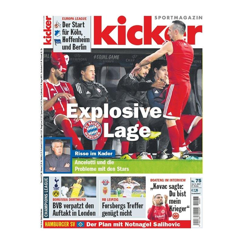 kicker Ausgabe 075/2017 vom 14.09.2017 - rot