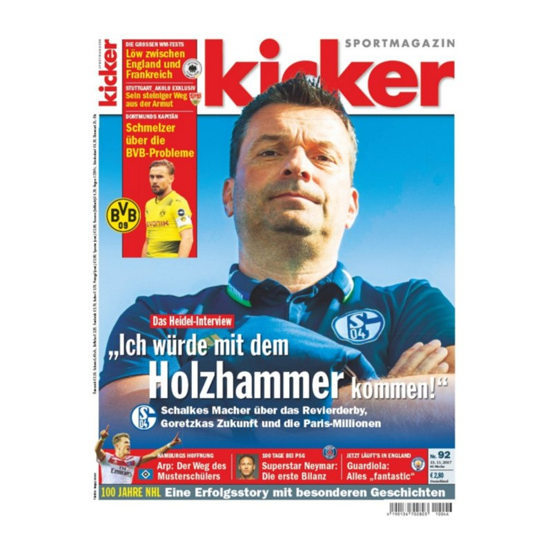 kicker Ausgabe 092/2017 vom 13.11.2017 - rot