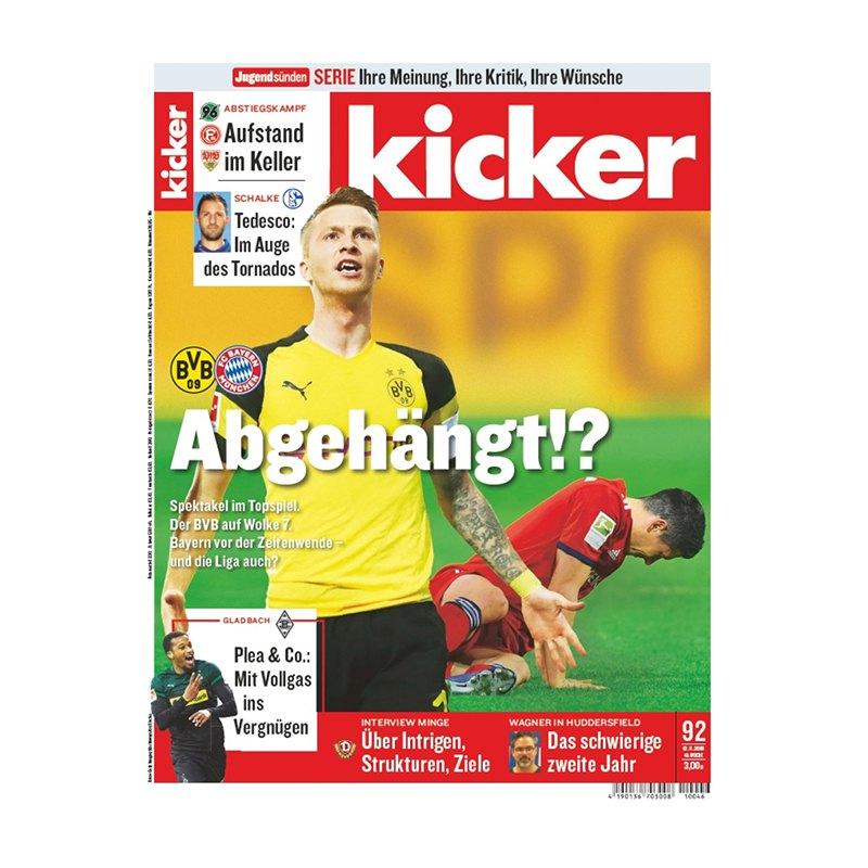 kicker Ausgabe 092/2018 vom 12.11.2018 - rot