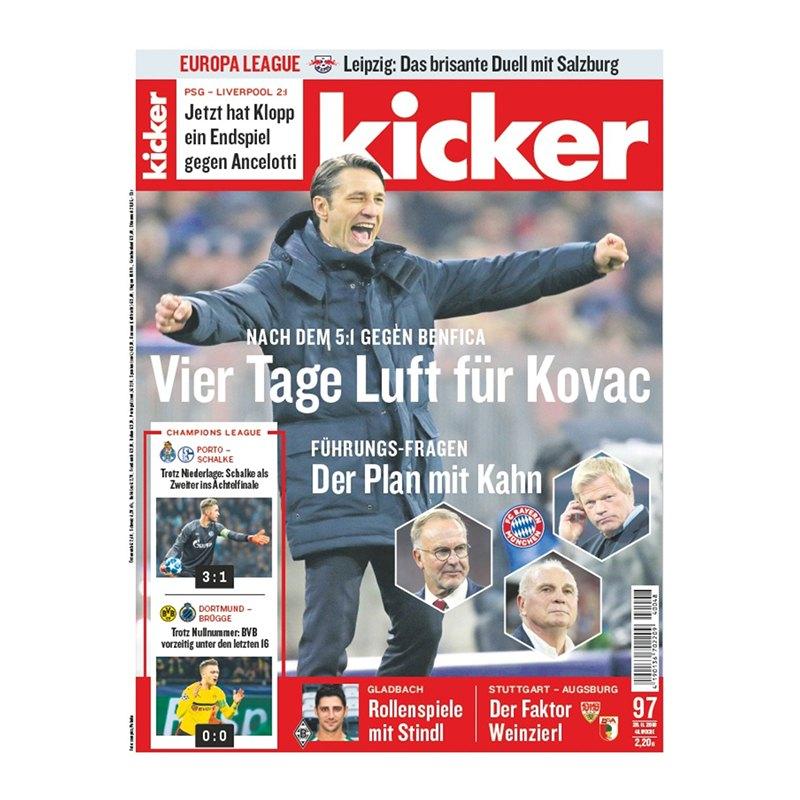 kicker Ausgabe 097/2018 vom 29.11.2018 - rot