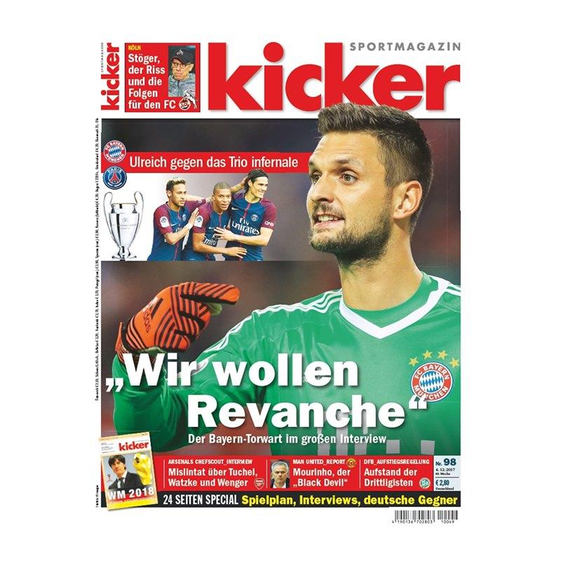 kicker Ausgabe 098/2017 vom 04.12.2017 - rot